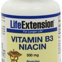 Vitamin B3 Niacin 500MG by Life Extension