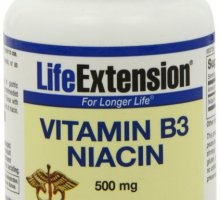Vitamin B3 Niacin 500MG by Life Extension